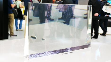 L'écran transparent de Panasonic